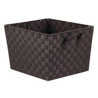 13 in. x 10 in. Brown Non Stackable Bin