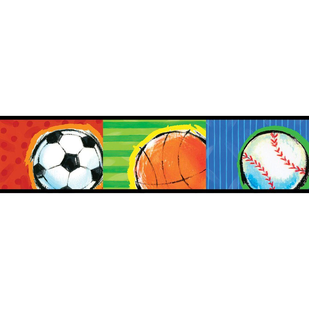 brewster kids world all star sports wallpaper border 443b97628 the rh homedepot com Sports Clip Art Black and White Sports Clip Art Black and White