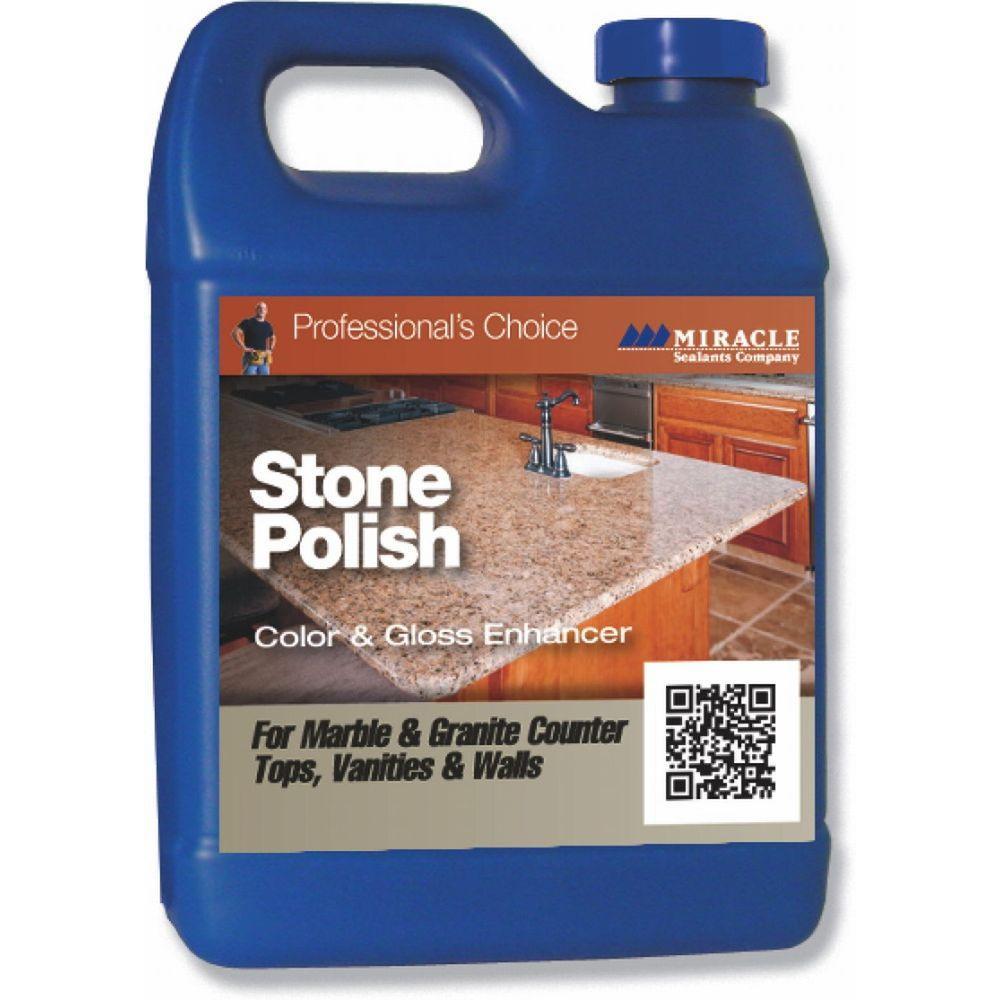 Polish Water Marble Countertops : Miracle sealants pint stone polish pol pt sg the home