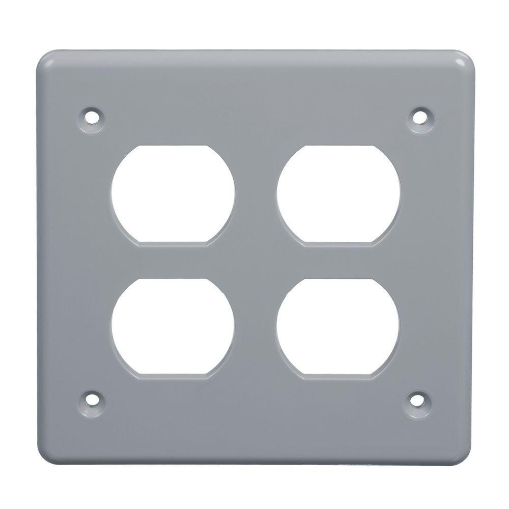 PVC FS Box Cover for Double Duplex (Case of 5)
