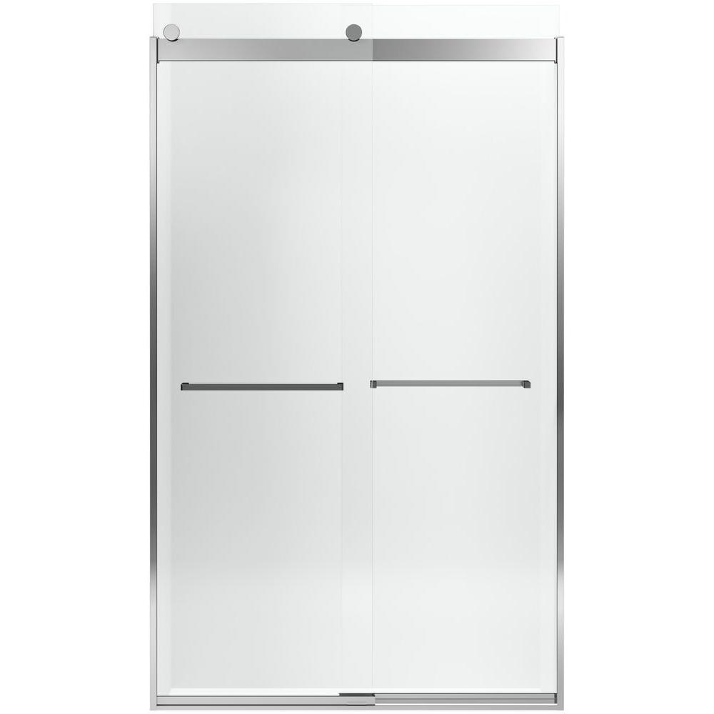 Levity 26-9/16 in. x 82 in. Shower Door in Silver