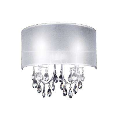 Halo 2-Light Chrome Sconce