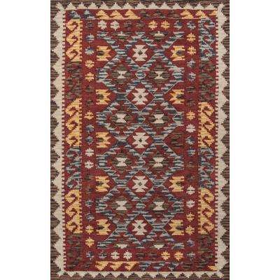 Tangier Red 5 ft. x 8 ft. Area Rug