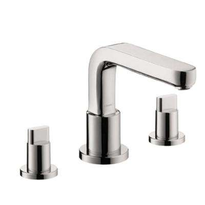 Metris S Lever 2-Handle Deck-Mount Roman Tub Faucet with Handshower in Chrome