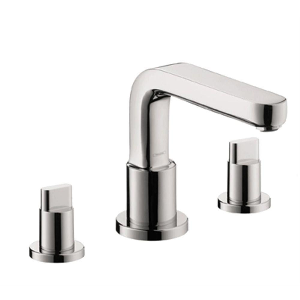 Metris S Lever 2-Handle Deck-Mount Roman Tub Faucet with Handshower in Chrome