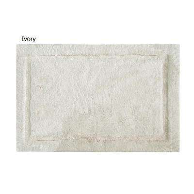 Charleston 24 in. x 40 in. 100% Organic Cotton Bath Rug in Ivory