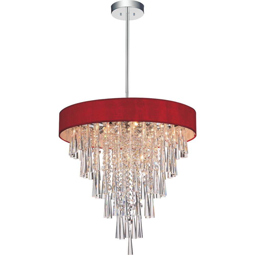 CWI Lighting Franca 6-Light Chrome Chandelier with Wine R...