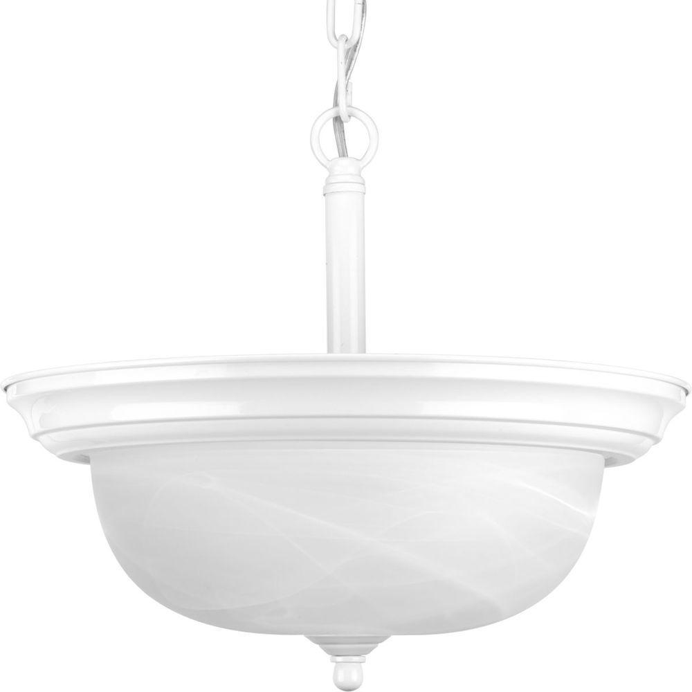 Progress Lighting 2-Light White Semi-flushmount-DISCONTINUED