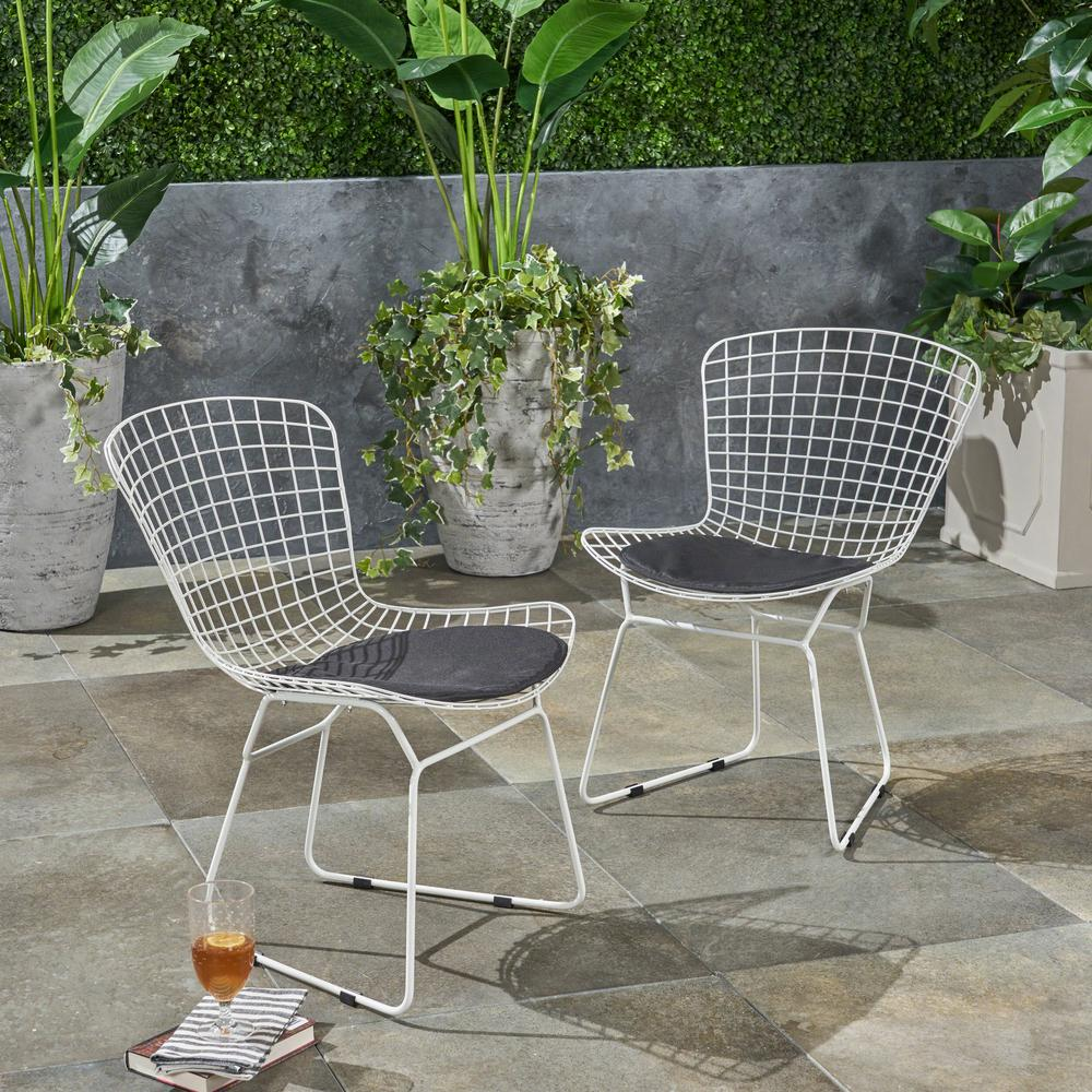 Stationary Metal Outdoor Dining Chair
