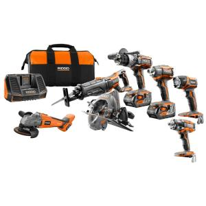 Ridgid 18-Volt GEN5X Cordless Lithium-Ion Combo Kit (7-Tool) with (2) 4.0Ah... by RIDGID