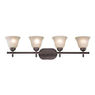 Santa Fe 4-Light Oil-Rubbed Bronze Bath Bar Light