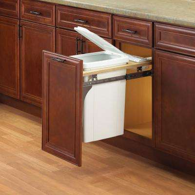 17.5 in. x 12 in. x 22.5 in. In Cabinet Pull Out Top Mount Trash Can