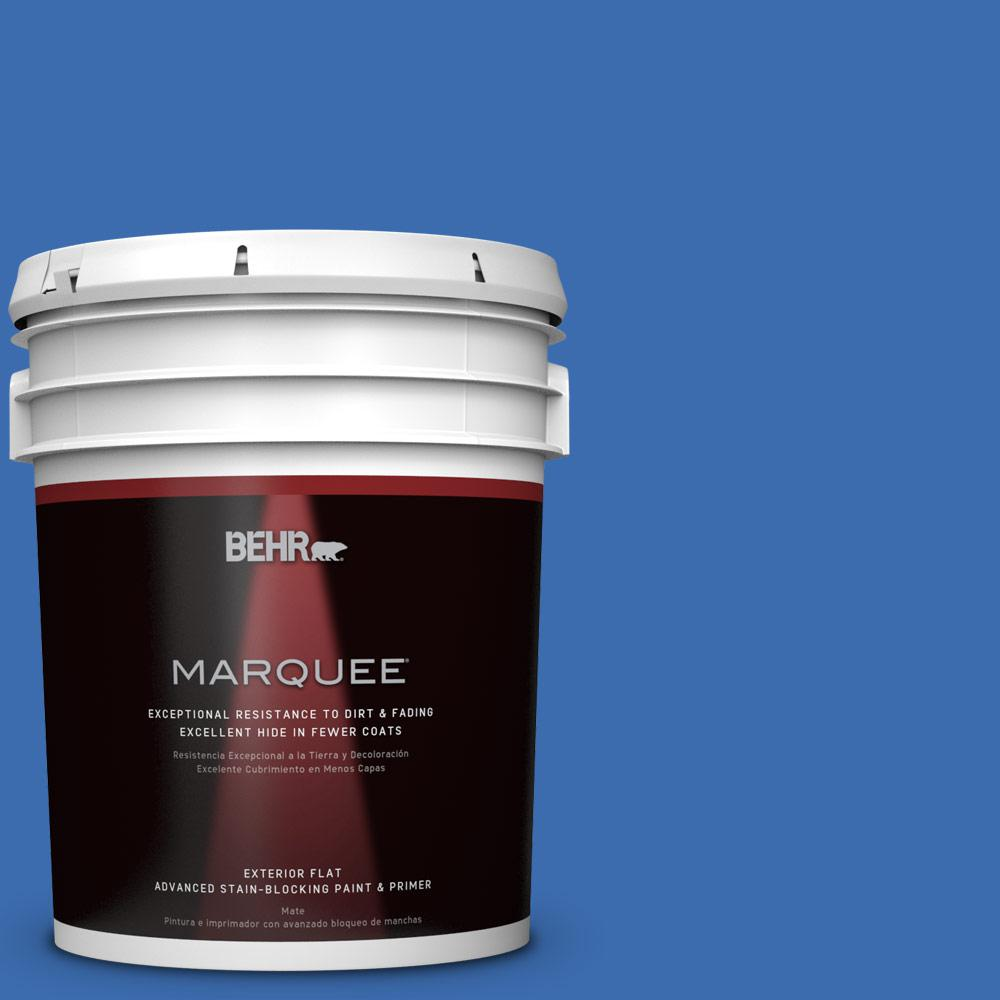 5 gal. #T18-17 Wide Sky Flat Exterior Paint