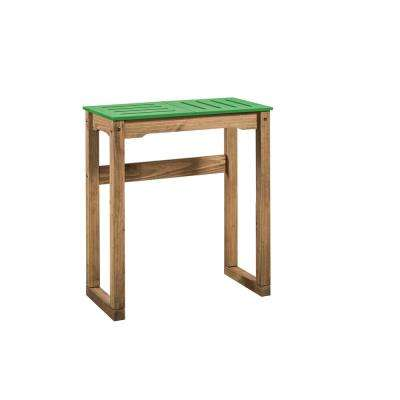 Stillwell 31.5 in. Green and Natural Wood Bar Table