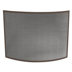 uniflame fireplace. Curved Bronze Single Panel Fireplace Screen  UniFlame Black Wrought Iron with