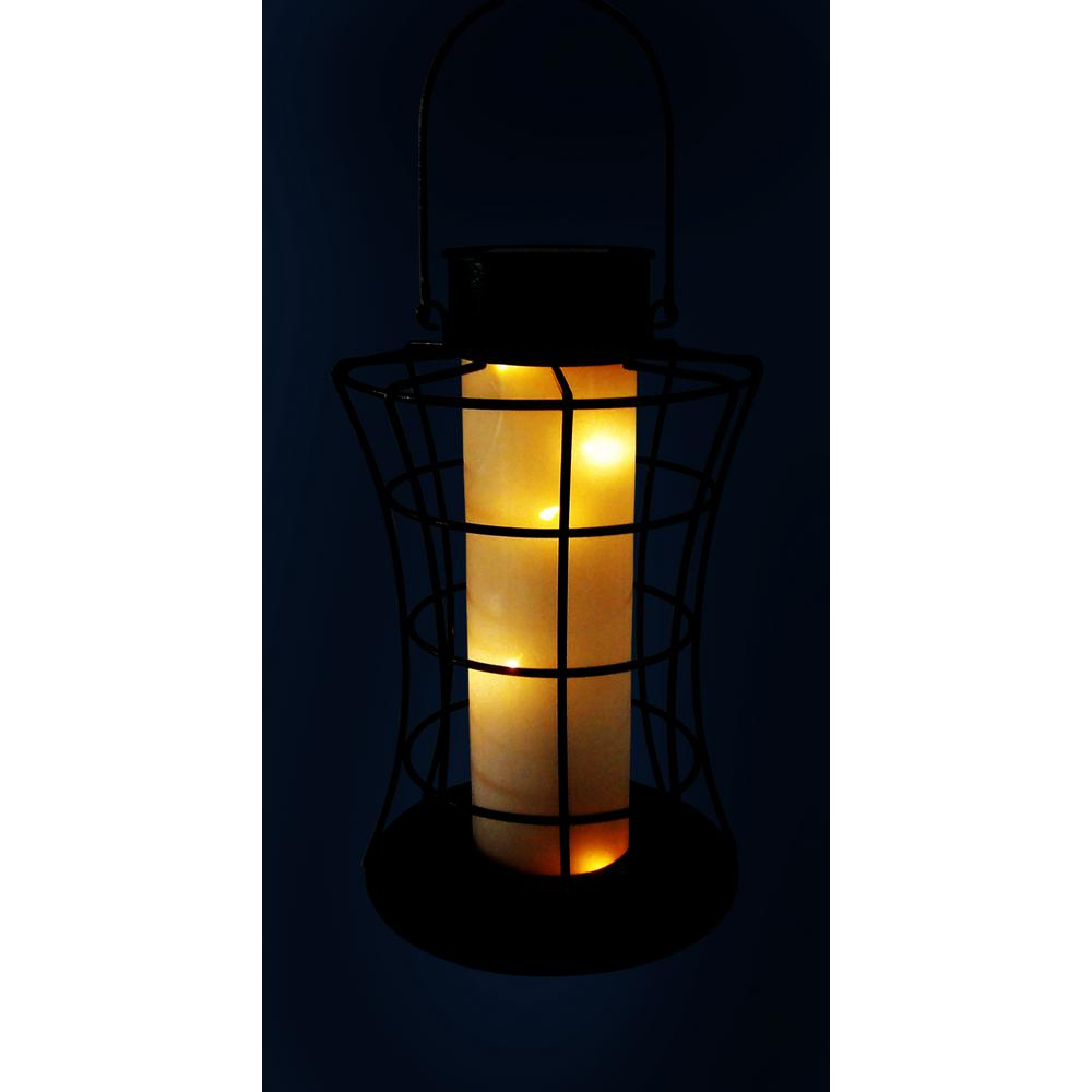 Lantern With 10 Warm White Led