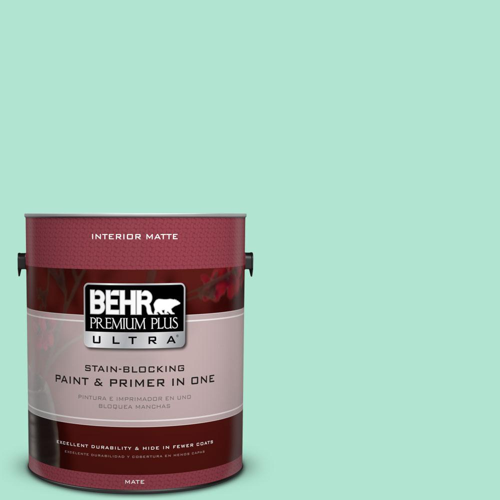BEHR Premium Plus Ultra 1 gal. #P420-2 Crystal Rapids Matte Interior Paint