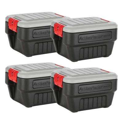 8 Gal Action Packer Storage Tote 4 Pack