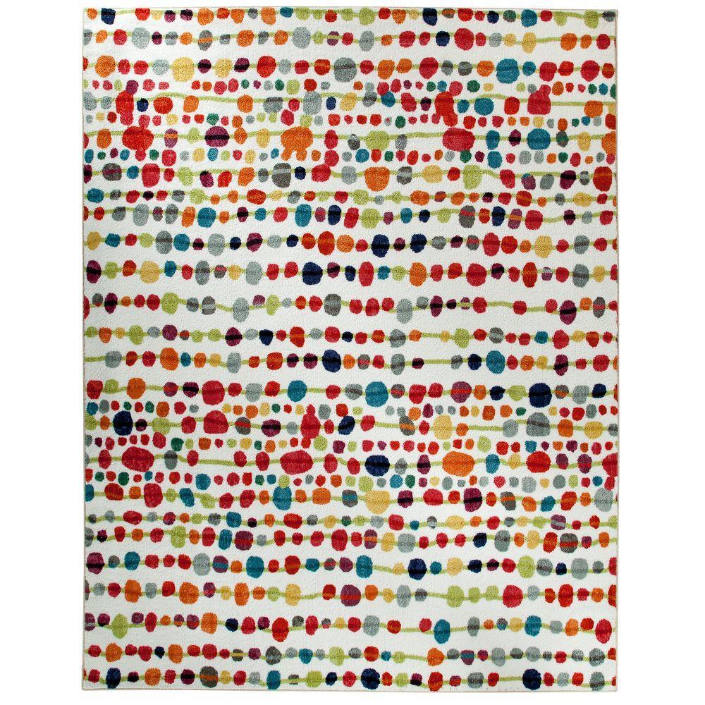 Funky Rainbow Colored Area Rugs: Mohawk Home Delerus Multi 5 Ft. X 8 Ft. Area Rug-395582