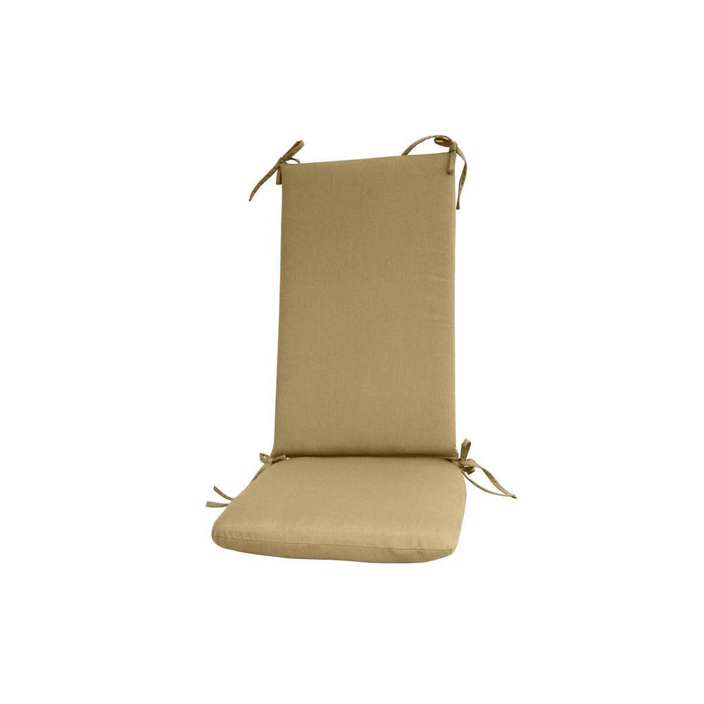 Paradise Cushions Sunbrella Sand Outdoor Rocker Cushion Set