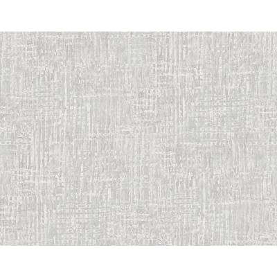 Corsica Weave Metallic Silver and Off-White Faux Paper Strippable Roll (Covers 60.75 sq. ft.)