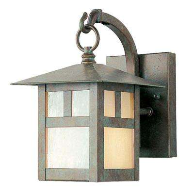 Providence Wall-Mount 1-Light Verde Patina Outdoor Incandescent Lantern