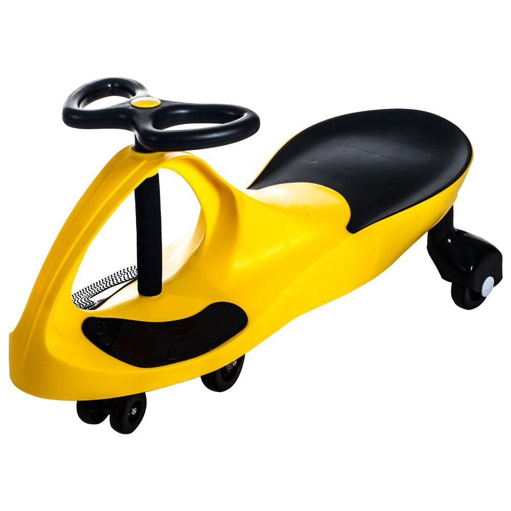 lil rider yellow wiggle car ride on