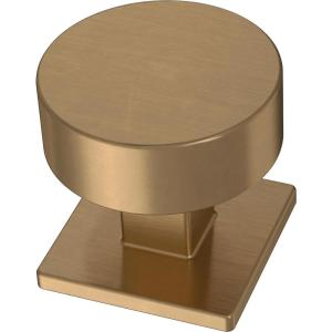Modern Post 1-1/8 in. (28 mm) Champagne Bronze Cabinet Knob