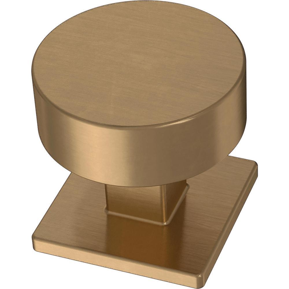 Modern Post 1-1/8 in. (28 mm) Champagne Bronze Cabinet Knob