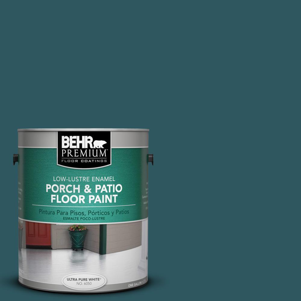 BEHR Premium 1 gal. #PPF-56 Terrace Teal Low-Lustre Interior/Exterior Porch and Patio Floor Paint