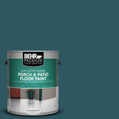 1 gal. #PPF-56 Terrace Teal Low-Lustre Interior/Exterior Porch and Patio Floor Paint