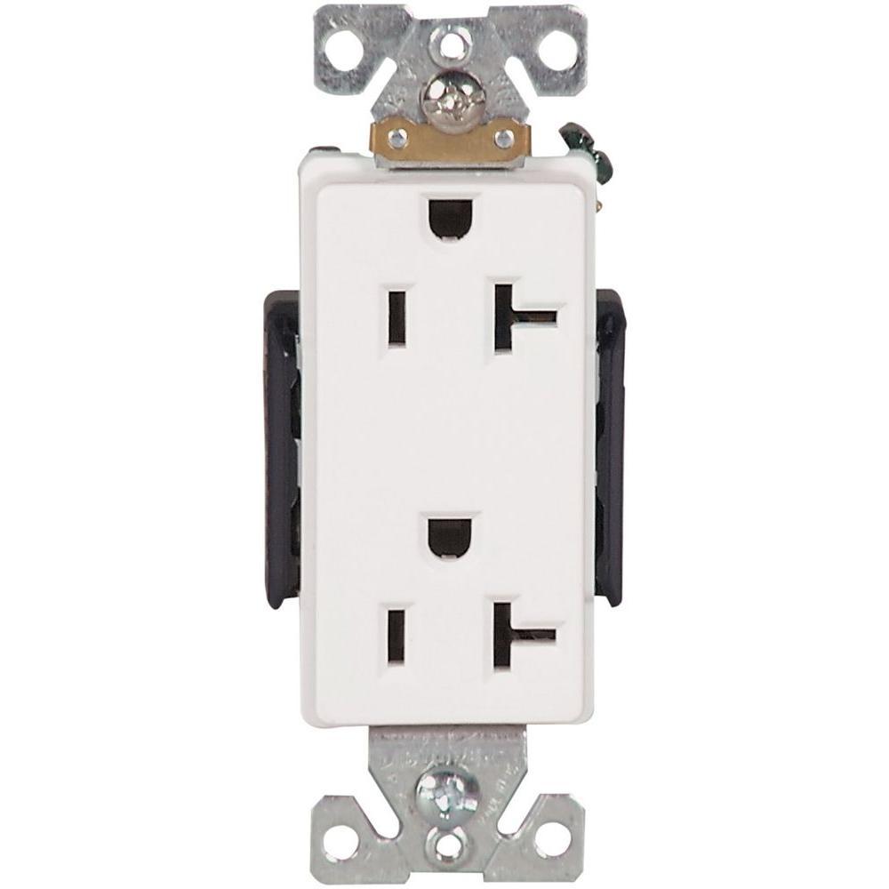 White Eaton Switches W on Nema 15 20r Receptacle