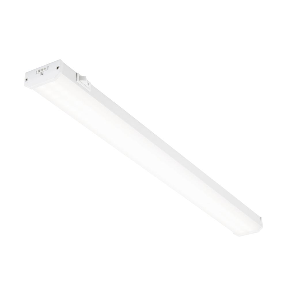 24 in. LED White Linkable Plug In Under Cabinet Light