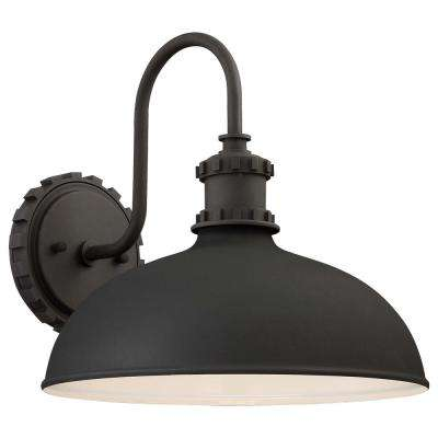 Escudilla Collection 1-Light Black Outdoor Wall Mount Lantern