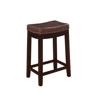 Claridge 26 in. Dark Brown Cushioned Counter Stool
