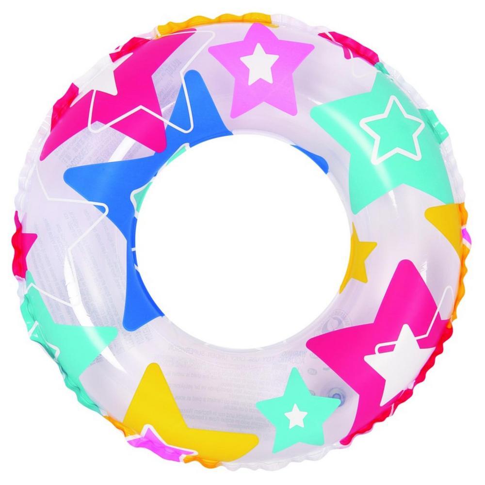24 in. Star Print Inflatable Inner Tube Float
