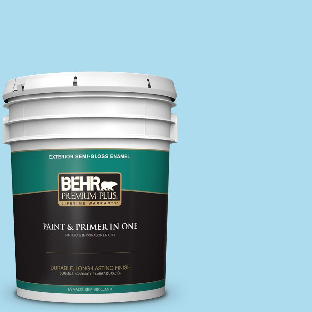 5-gal. #530A-3 Frosty Glade Semi-Gloss Enamel Exterior Paint