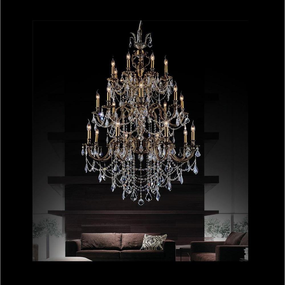 Crystal world inc brass 24 light antique brass chandelier 2039p40ab crystal world inc brass 24 light antique brass chandelier mozeypictures Image collections