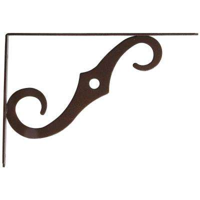 8 in. x 5 in. x 1/2 in. Antique Bronze Ornamental Shelf Bracket (10-Pack)