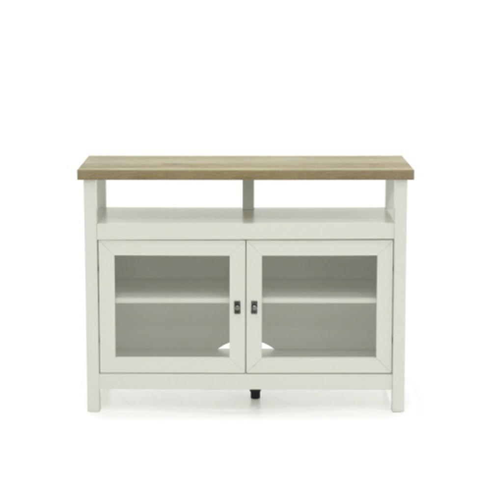 Sauder Cottage Road Soft White Tv Stand With Doors 422044 The Home