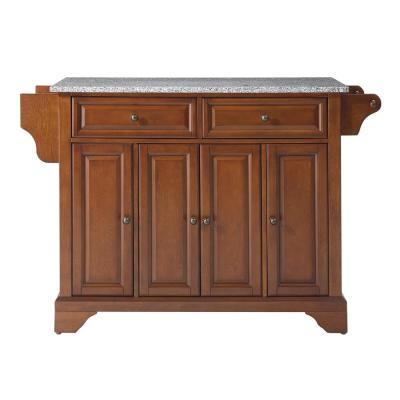 Lafayette Cherry Kitchen Island with Granite Top