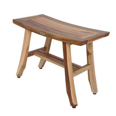 EarthyTeak Satori 24 in. Teak Shower Bench