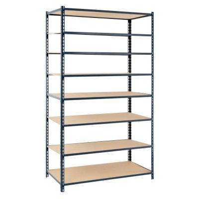 84 in. H x 36 in. W x 12 in. D 8-Shelf Boltless Steel Shelving Unit in Gray