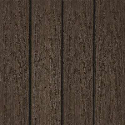 UltraShield Naturale 1 ft. x 1 ft. Quick Deck Outdoor Composite Deck Tile Sample in Spanish Walnut