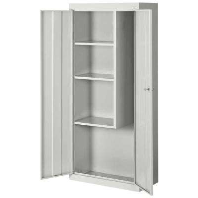 66 in. H x 30 in. W x 15 in. D Steel Freestanding Combination Storage Cabinet in Dove Gray