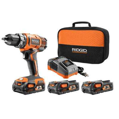18-Volt Cordless 2-Speed 1/2 in. Compact Drill/Driver Kit with Bonus 2 AH (2PK) Batteries