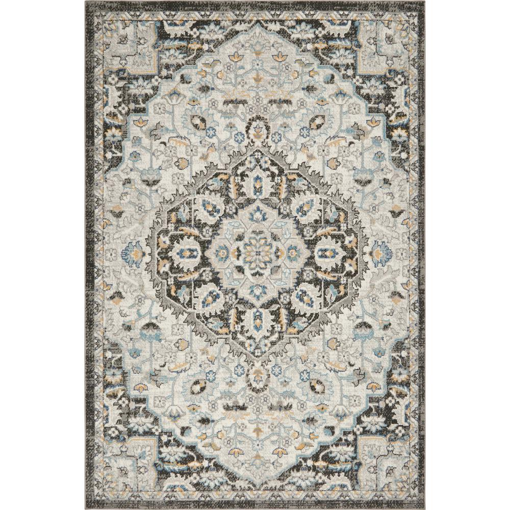 Home Dynamix Riviera Romano Ivory Anthracite 7 Ft 10 In X 10 Ft 2 In Indoor Area Rug
