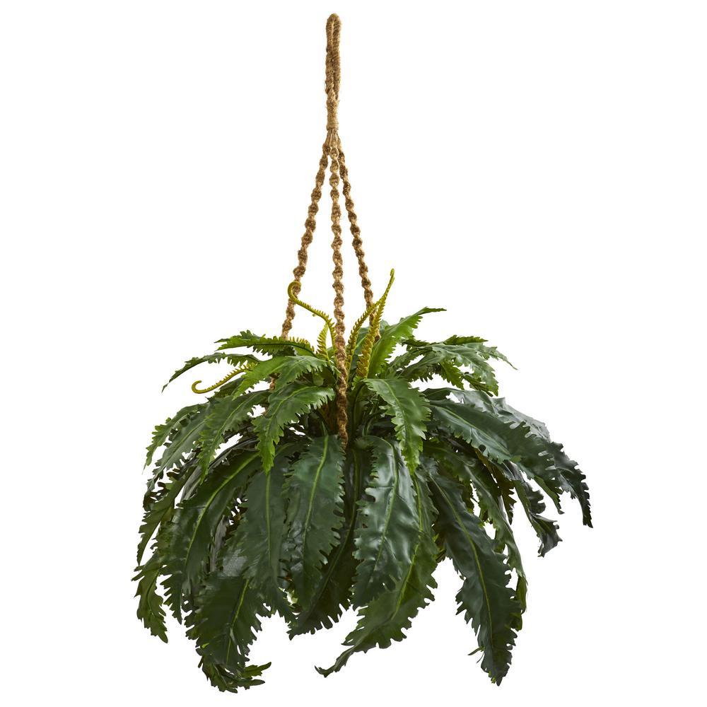 Indoor Marginatum Artificial Plant in Hanging Basket