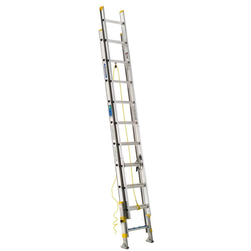 20 ft. Aluminum D-Rung Equalizer Extension Ladder with 225 lb. Load