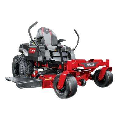 TITAN 48 in. IronForged Deck 24.5 HP Commercial V-Twin Gas Dual Hydrostatic Zero Turn Riding Mower